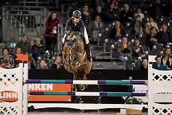 Nijhof-Roelofsen Dominique, NED, Quidaro<br /> Jumping Indoor Maastricht 2016<br /> © Hippo Foto - Dirk Caremans<br /> 12/11/2016