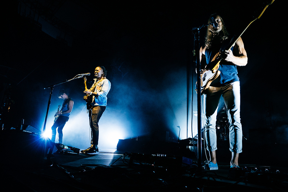 NEW YORK, NY/US - SEPTEMBER 20, 2019: Bloc Party performs onstage at SummerStage in Central Park in Manhattan. PHOTO CREDIT: Eric M. Townsend