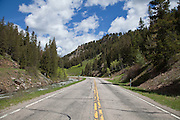 Kings Hill Scenic Byway section of US Route 89 in northern Montana