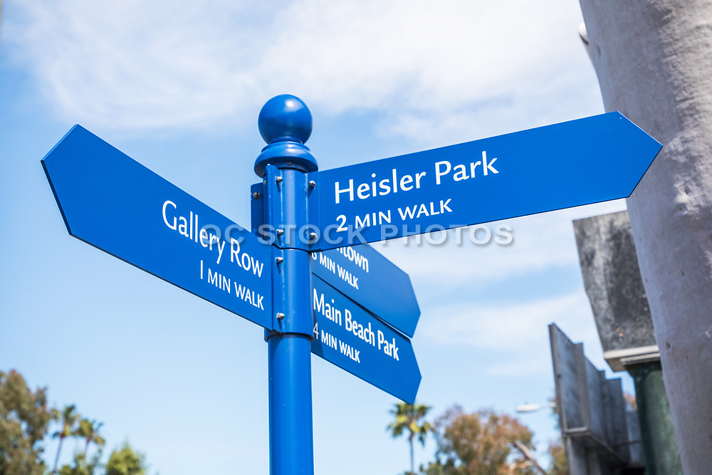 Laguna Beach Informational Street Sign