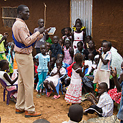 Sunday School for Gambela children, refugees from Ethiopia, and now Christian minority members of Dadaab's largely Muslim population. North Eastern Province, Kenya.