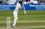 Steven Croft plays a defensive shot during the LV County Championship Div 2 match between Gloucestershire County Cricket Club and Lancashire County Cricket Club at the Bristol County Ground, Bristol, United Kingdom on 7 June 2015. Photo by Alan Franklin.