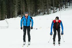 Saso Taljat and Luka Bozic  of Slovenian Kayak Canoe National Team at Winter training of Cross country and Biathlon, on January 7, 2015 in Rudno polje, Pokljuka, Slovenia.  Photo by Vid Ponikvar / Sportida