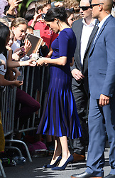 Prince Harry Duke of Sussex, Meghan Duchess of Sussex on a public walkabout in Rotorua CBD on day four of the royal couple's tour of New Zealand. Photo credit should read: Doug Peters/EMPICS
