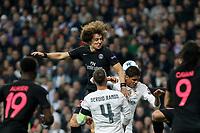 Real Madrid´s Raphael Varane (R) and Paris Saint-Germain´s David Luiz during Champions League soccer match between Real Madrid  and Paris Saint Germain at Santiago Bernabeu stadium in Madrid, Spain. November 03, 2015. (ALTERPHOTOS/Victor Blanco)