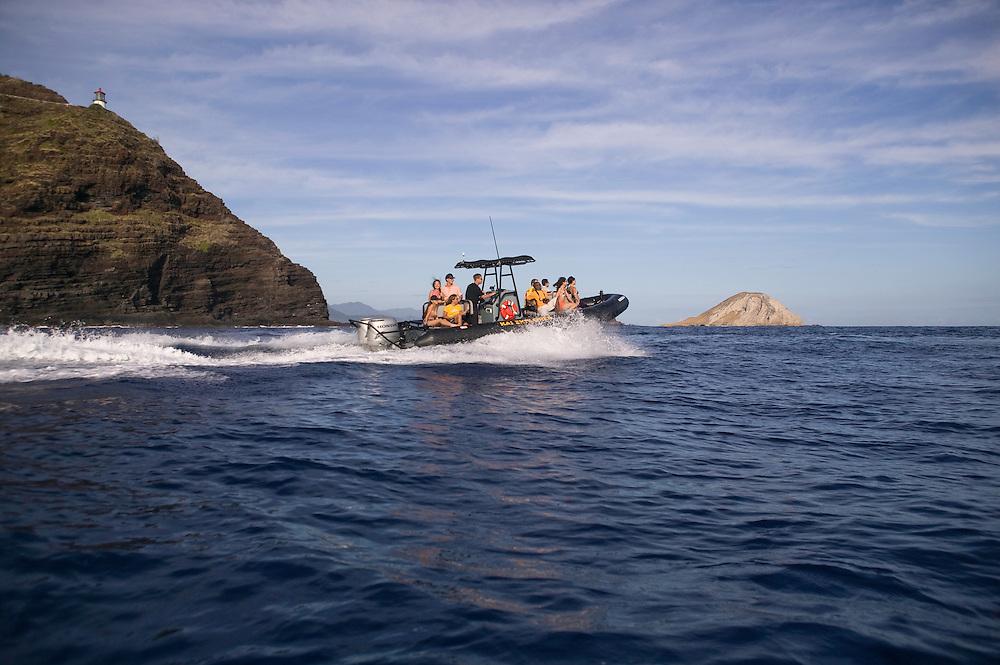 Kai Explorer Tour boat, tour of East Oahu, including Makapu`u and Manana Island