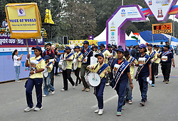 December 16, 2018 - Kolkata, West Bengal, India - Voice of World Band, blind bands performs during Tata Steel Kolkata 25K 2018. (Credit Image: © Saikat Paul/Pacific Press via ZUMA Wire)