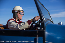 Late Saturday at the starting line of the Race of Gentlemen. Wildwood, NJ, USA. October 10, 2015.  Photography ©2015 Michael Lichter.