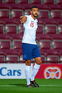 Jake Clarke-Salter (#15) of England U21s (Vitesse Arnhem, loan from Chelsea) during the U21 UEFA EUROPEAN CHAMPIONSHIPS match between Scotland and England at Tynecastle Stadium, Edinburgh, Scotland on 16 October 2018.