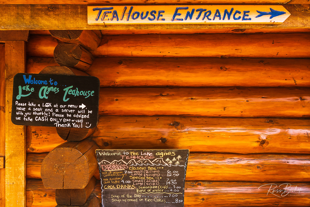 The Lake Agness tea house, Banff National Park, Alberta, Canada