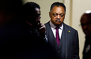 The Rev. Jesse Jackson waits to be introduced to speak to guests about voting during a visit to New Hope Missionary Baptist Church, Tuesday, Feb. 13, 2018, in Nashville, Tenn. (Photo by Wade Payne, Special to the Tennessean)