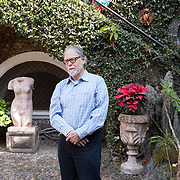 "Tepoztlán, Mexico, January 18, 2018. David Huerta, Mexican poet, son of the poet Efrain Huerta, in Tepoztlán for the Writing Master Classes & Residency ""Under The Volcano"". <br /> 