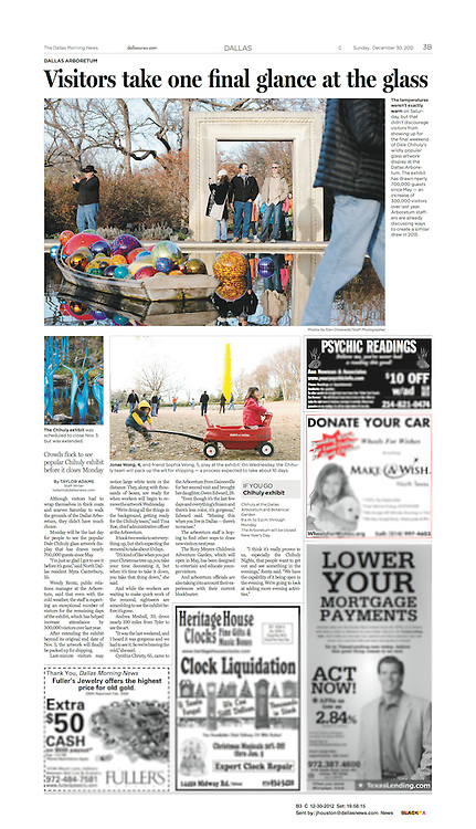The Dallas Morning News - Metro, B3, December 30, 2012.