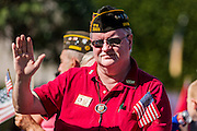 """11 NOVEMBER 2013 - PHOENIX, AZ: STEVEN STYBLO, marches in the Phoenix Veterans Day Parade. The Phoenix Veterans Day Parade is one of the largest in the United States. Thousands of people line the 3.5 mile parade route and more than 85 units participate in the parade. The theme of this year's parade is """"saluting America's veterans.""""    PHOTO BY JACK KURTZ"""
