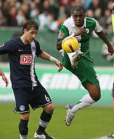 Fotball<br /> Tyskland<br /> Foto: Witters/Digitalsport<br /> NORWAY ONLY<br /> <br /> 23.02.2008<br /> <br /> v.l. Rudolf Skacel, Grafite VfL<br /> Bundesliga VfL Wolfsburg - Hertha BSC Berlin