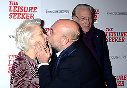 Helen Mirren, Paolo Virzi and Donald Sutherland attending The Leisure Seeker screening at AMC Loews Lincoln Square on January 11, 2018 in New York City, NY, USA. Photo by Dennis Van Tine/ABACAPRESS.COM