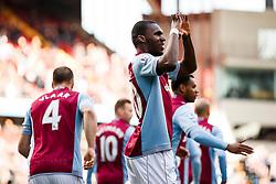 Aston Villa Forward Christian Benteke (BEL) celebrates scoring a goal - Photo mandatory by-line: Rogan Thomson/JMP - 07966 386802 - 23/03/2014 - SPORT - FOOTBALL - Villa Park, Birmingham - Aston Villa v Stoke City - Barclays Premier League.