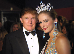 Apr 12, 2004; Hollywood, CA, USA; DONALD TRUMP with Miss USA 2004 winner SHANDI FINNESSEY (Miss Missouri) at the Miss USA 2004 afterparty at The Avalon..  (Credit Image: Karl Larsen/ZUMAPRESS.com)