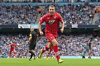 Football - Premier League - Manchester City vs. Southampton<br /> Southampton's Rickie Lambert celebrates his equalising goal at Etihad Stadium