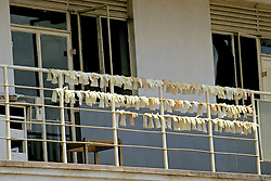 Drying Out Used Gloves To Use Again, Nyanza Provincial General Hospital