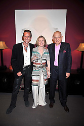 Left to right, Photographer JOTH SHAKERLEY, SUZE MURRAY and NAIM ATTALLAH at a party to celebrate the publication of Joth Shakerley's book 'Pregnant Women' held at 598a Kings Road, London SW6 on 20th May 2009.