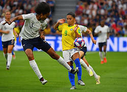 France's during FIFA Women's World Cup France group A match France v Brazil on June 23, 2019 in Le Havre, France. France won 2-1 after extra time reaching quarter-finals. Photo by Christian Liewig/ABACAPRESS.COM
