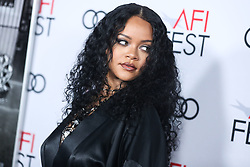 HOLLYWOOD, LOS ANGELES, CALIFORNIA, USA - NOVEMBER 14: Singer Rihanna arrives at the AFI FEST 2019 - Opening Night Gala - Premiere Of Universal Pictures' 'Queen And Slim' held at the TCL Chinese Theatre IMAX on November 14, 2019 in Hollywood, Los Angeles, California, United States. 14 Nov 2019 Pictured: Rihanna. Photo credit: Xavier Collin/Image Press Agency / MEGA TheMegaAgency.com +1 888 505 6342
