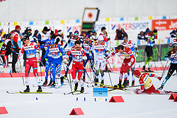 February 24, 2019 - Seefeld In Tirol, AUSTRIA - 190224 Johannes HÂ¿sflot Kl¾bo and Emil Iversen of Norway competes in menÃ•s team sprint final during the FIS Nordic World Ski Championships on February 24, 2019 in Seefeld in Tirol..Photo: Vegard Wivestad GrÂ¿tt / BILDBYRN / kod VG / 170296 (Credit Image: © Vegard Wivestad Gr¯Tt/Bildbyran via ZUMA Press)