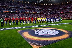 24-05-2017 SWE: Final Europa League AFC Ajax - Manchester United, Stockholm<br /> Finale Europa League tussen Ajax en Manchester United in het Friends Arena te Stockholm / Line up teams Ajax en Manchester United