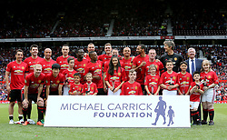 The Manchester United 2008 XI pose for a photograph before kick-off during Michael Carrick's Testimonial match at Old Trafford, Manchester.