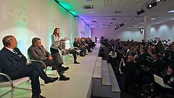 Dra. Waleska Santos, presidente da feira Hospitalar com o ministro da saude, Alexandre Padilha durante abertura oficial da HOSPITALAR 2011 - 18ª Feira Internacional de Produtos, Equipamentos, Serviços e Tecnologia para Hospitais, Laboratórios, Clínicas e Consultórios, que acontece de 24 a 27 de maio de 2011, no Expo Center Norte, em São Paulo. FOTO: Jefferson Bernardes/Preview.com