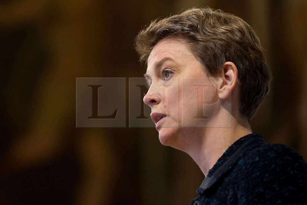 © Licensed to London News Pictures. 25/11/2013. London, UK. The shadow home secretary, Labour MP Yvette Cooper,  talks during the presentation of a report by the Independent Commission on the future of Policing in England and Wales, at the Royal Society of Arts in London today (25/11/2013). Photo credit: Matt Cetti-Roberts/LNP