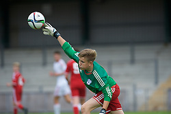 NEWPORT, WALES - Wednesday, August 3, 2016: South Wales Academy Boys' goalkeeper Matthew Turner during the Welsh Football Trust Cymru Cup 2016 at Newport Stadium. (Pic by Ian Cook/Propaganda)
