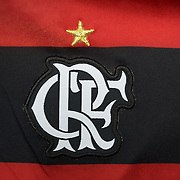 The shirt emblem of Flamengo football team in Rio de Janeiro,  Brazil. 6th September 2010. Photo Tim Clayton.