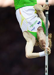 Steven Hooker of Australia competes in the men's Pole Vault Final during day eight of the 12th IAAF World Athletics Championships at the Olympic Stadium on August 22, 2009 in Berlin, Germany. (Photo by Vid Ponikvar / Sportida)