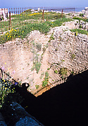 Deep well for water supply at archaeological site ruins of ancient Byblos, Lebanon 1998