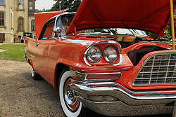 06 August 2016:  1958 Chrysler 300d Bankers HotRod<br /> Owners: Daryl & Rita Miller<br /> <br /> Displayed at the McLean County Antique Automobile Association Car show at David Davis Mansion in Bloomington Illinois