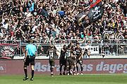 FUSSBALL: 2. Bundesliga, FC St. Pauli . 1. FC Koeln 3:5 Hamburg, 02.09.2018<br /> Jubel St. Pauli nach dem Treffer zum 1:0 <br /> © Torsten Helmke