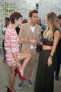 PIXIE GELDOF; NICK GRIMSHAW, The Serpentine Summer Party 2013 hosted by Julia Peyton-Jones and L'Wren Scott.  Pavion designed by Japanese architect Sou Fujimoto. Serpentine Gallery. 26 June 2013. ,