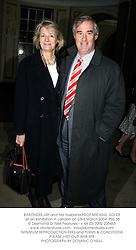 BARONESS JAY and her husband PROF.MICHAEL ADLER at an exhibition in London on 23rd March 2004.PSS 38
