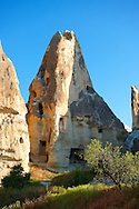 Fairy Chimneys near Göreme [ Goreme ]  , Cappadocia Turkey .<br /> <br /> If you prefer to buy from our ALAMY PHOTO LIBRARY  Collection visit : https://www.alamy.com/portfolio/paul-williams-funkystock/cappadociaturkey.html (TIP refine search - type which part of Cappadocia into the LOWER search box)<br /> <br /> Visit our TURKEY PHOTO COLLECTIONS for more photos to download or buy as wall art prints https://funkystock.photoshelter.com/gallery-collection/3f-Pictures-of-Turkey-Turkey-Photos-Images-Fotos/C0000U.hJWkZxAbg
