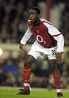 Fotball<br /> Foto: Colorsport/Digitalsport<br /> NORWAY ONLY<br /> <br /> Johan Djourou (Arsenal)<br /> <br /> Arsenal v Everton<br /> 9/11/2004.Carling League Cup 4th rd