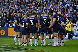 February 23, 2019 - Saint Denis, Seine Saint Denis, France - The Scotland team after their defeat during the Guinness Six Nations Rugby Tournament between France and Scotland at the Stade de France - St Denis - France..France won 27-10 (Credit Image: © Pierre Stevenin/ZUMA Wire)