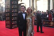 DOMINIC TIGHE; KATHERINE KINGSLEY, Olivier Awards 2012, Royal Opera House, Covent Garde. London.  15 April 2012.