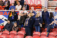 Scotland fans during the U21 UEFA EURO first qualifying round match between England and Scotland at the Riverside Stadium, Middlesbrough, England on 6 October 2017. Photo by Paul Thompson.