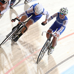 16-12-2016: Wielrennen: NK baanwielrennen: Apeldoorn  <br />Koppelkoers Winanda Spoor, Kelly Markus
