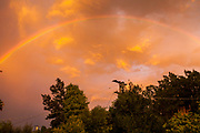 Clearing skies and the rainbow from my backyard at Mt. Helix