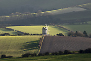 Ashcombe Windmill in the south downs near Lewes. Sussex, UK.