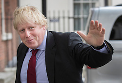 © Licensed to London News Pictures. 08/09/2016. London, UK.  Foreign Secretary Boris Johnson is seen in Downing Street as Prime Minister Theresa May meets with President of the European Council, Donald Tusk.  Photo credit: Peter Macdiarmid/LNP