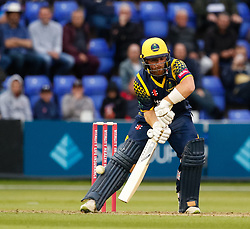 Glamorgan's David Lloyd flicks the ball over the top<br /> <br /> Photographer Simon King/Replay Images<br /> <br /> Vitality Blast T20 - Round 14 - Glamorgan v Surrey - Friday 17th August 2018 - Sophia Gardens - Cardiff<br /> <br /> World Copyright © Replay Images . All rights reserved. info@replayimages.co.uk - http://replayimages.co.uk